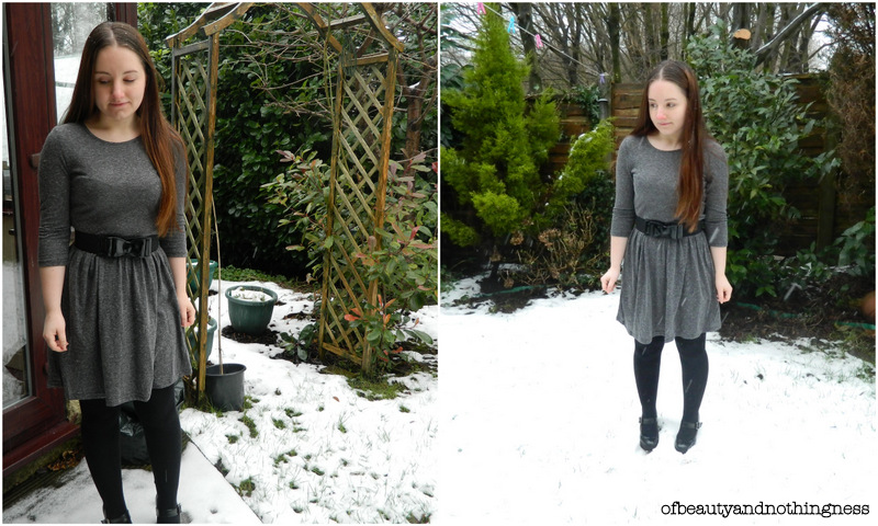 Snow Day & New Boohoo Dress!