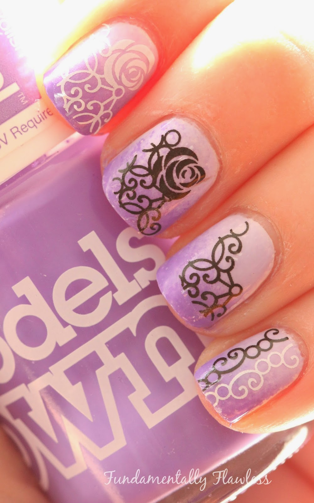 Models Own Purple Glaze and Born Pretty Store Water Decals