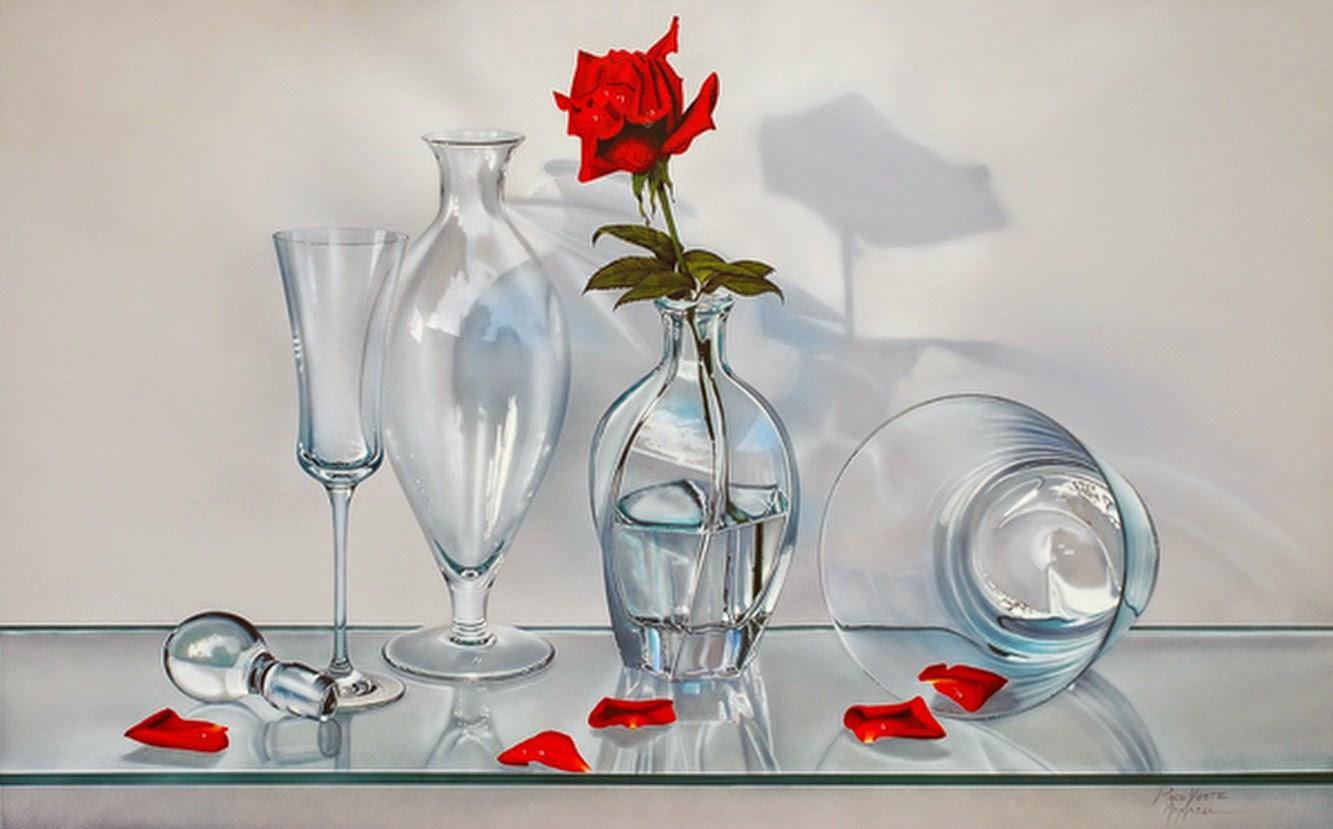 Cuadros modernos solitario con flor pintura - Cuadros modernos valencia ...