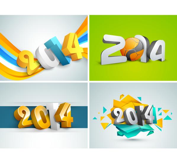 4 Logos del 2014 - Vector