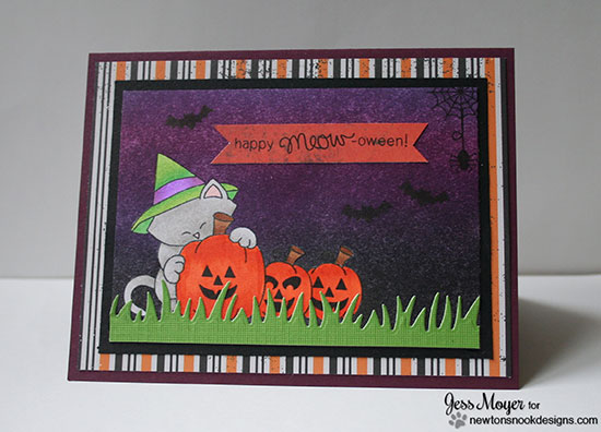 Cat Halloween Card by Jess Moyer for Newton's Nook Designs | Newton's Perfect Pumpkin Stamp Set