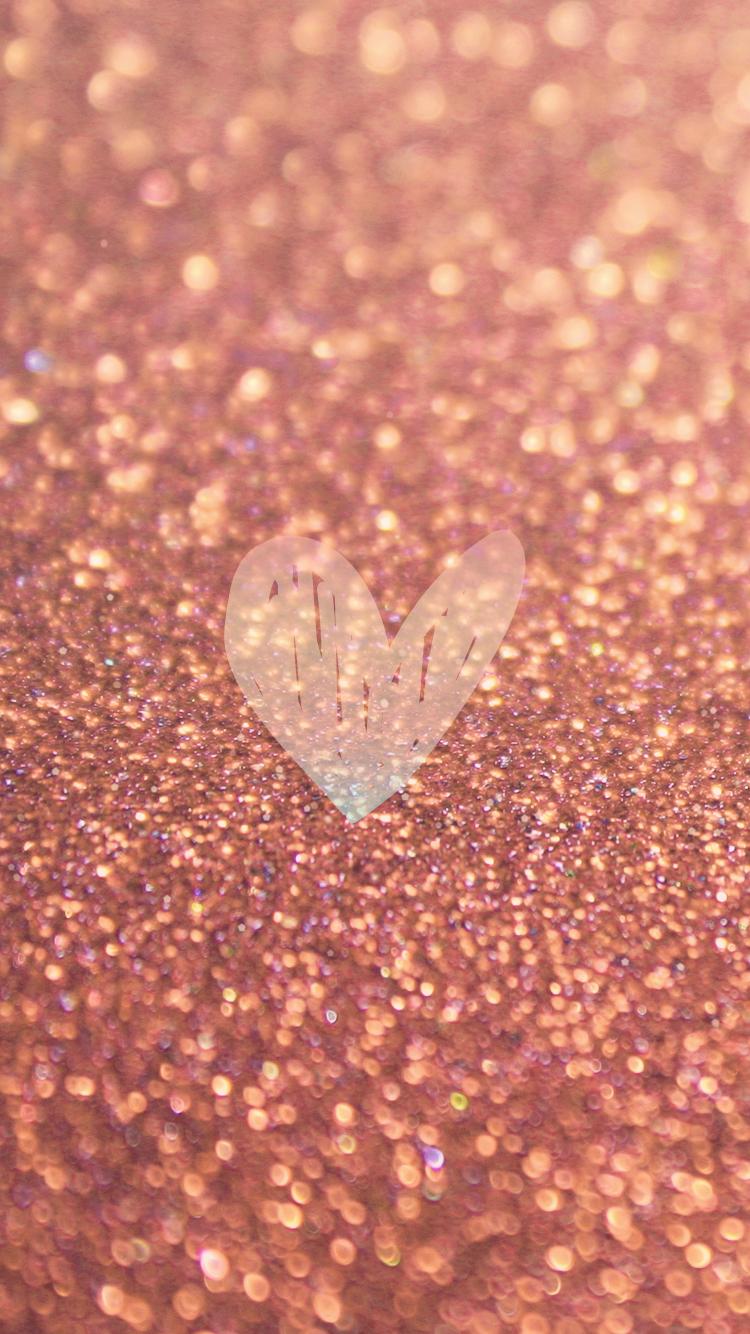 Download   Wallpaper Home Screen Rose Gold - rose-gold-sparkles-glitter-iphone-6-wallpaper-heart  2018_661094.png