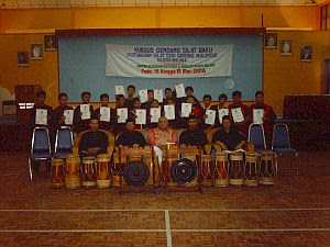 Kursus Gendang Silat Baku : 16-19 Mac 2006