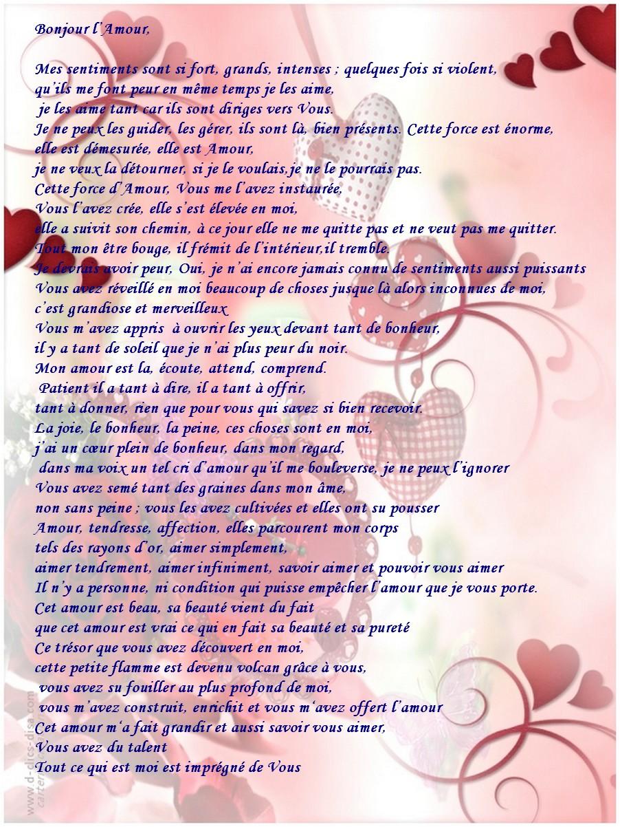 Des belles lettre d'amour pour elle :