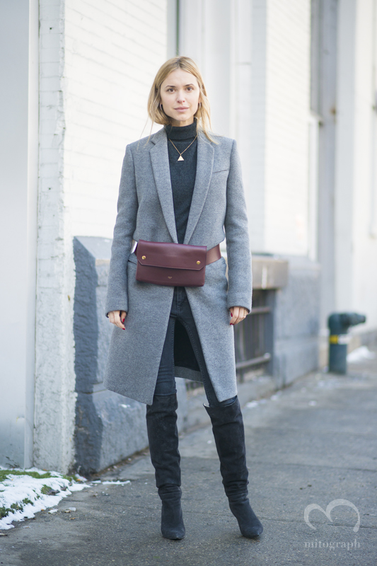 blogger Pernille Teisbaek at New York Fashion Week 2015-2016 Fall WInter NYFW