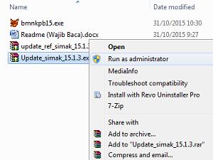 cara update simak bmn 15.1.3