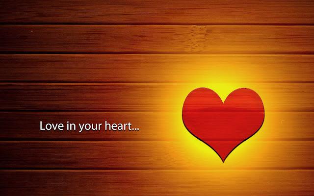 Achtergrond met rood liefdes hartje op houten muur