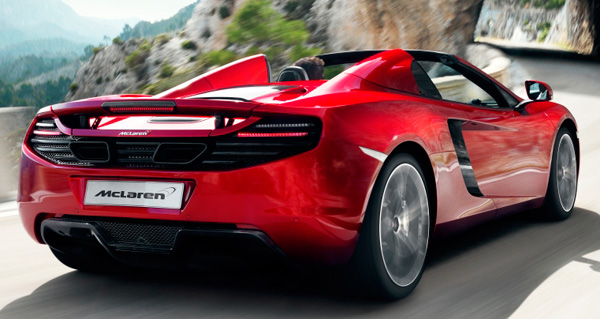 McLaren  MP4-12C Spider rear