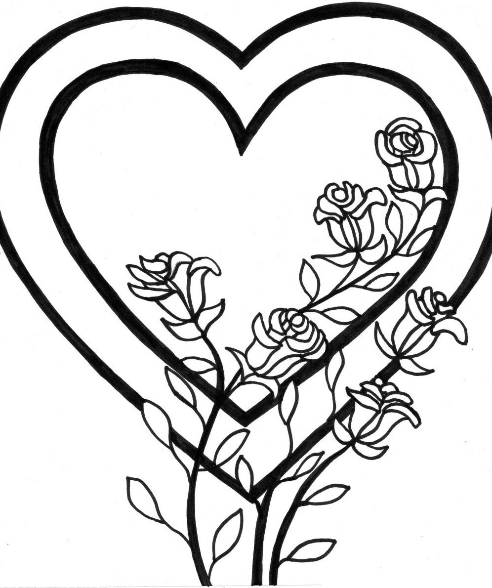 El Mejor Blog para Chicas: 10 Dibujos de rosas para colorear