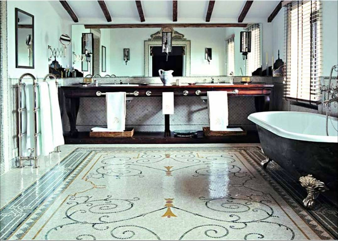 Mosaic Bathroom Floor Tile Designs