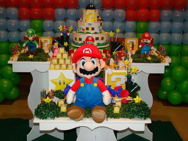 MISCELÂNEA DA CARLINHA Decoração de festa infantil  Super Mario