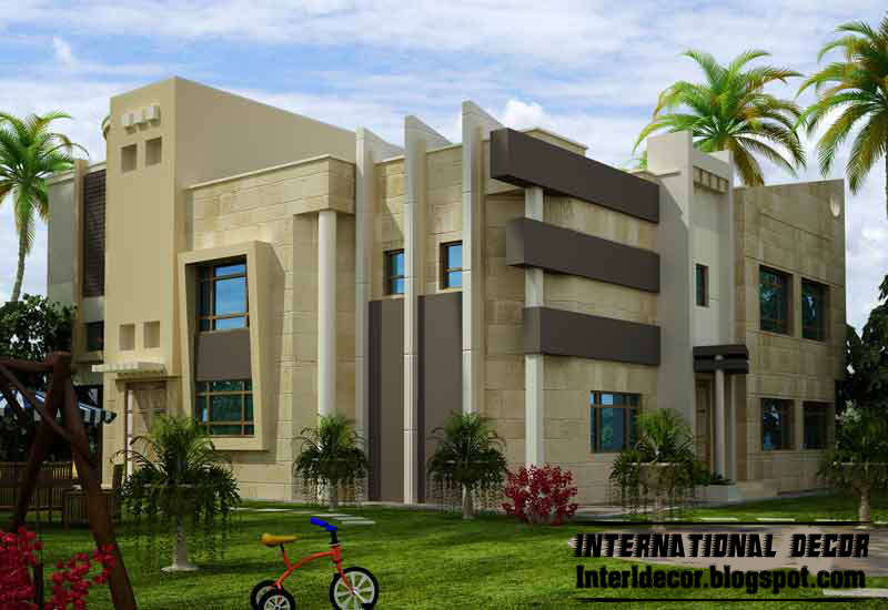 International villas designs modern villas designs for Villa moderne design