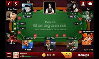 Garagames game đánh bài online trên Android