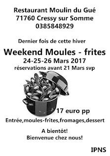 Dernier fois Moules -frites!!