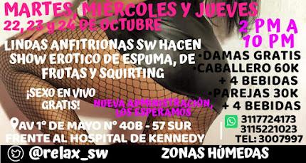 Martes de 2 pm a 10 pm SHOW EN VIVO CON SEXYS CHICAS Y PAREJAS SW
