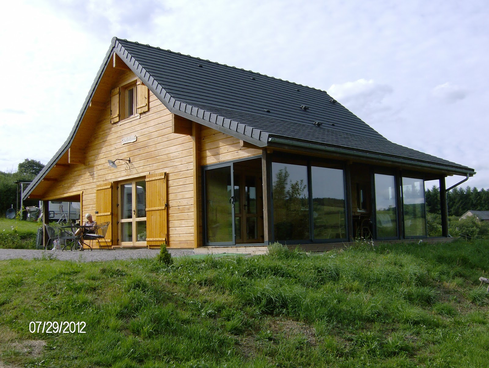 Vakantiehuis les grillons - Huis met veranda binnenkomst ...