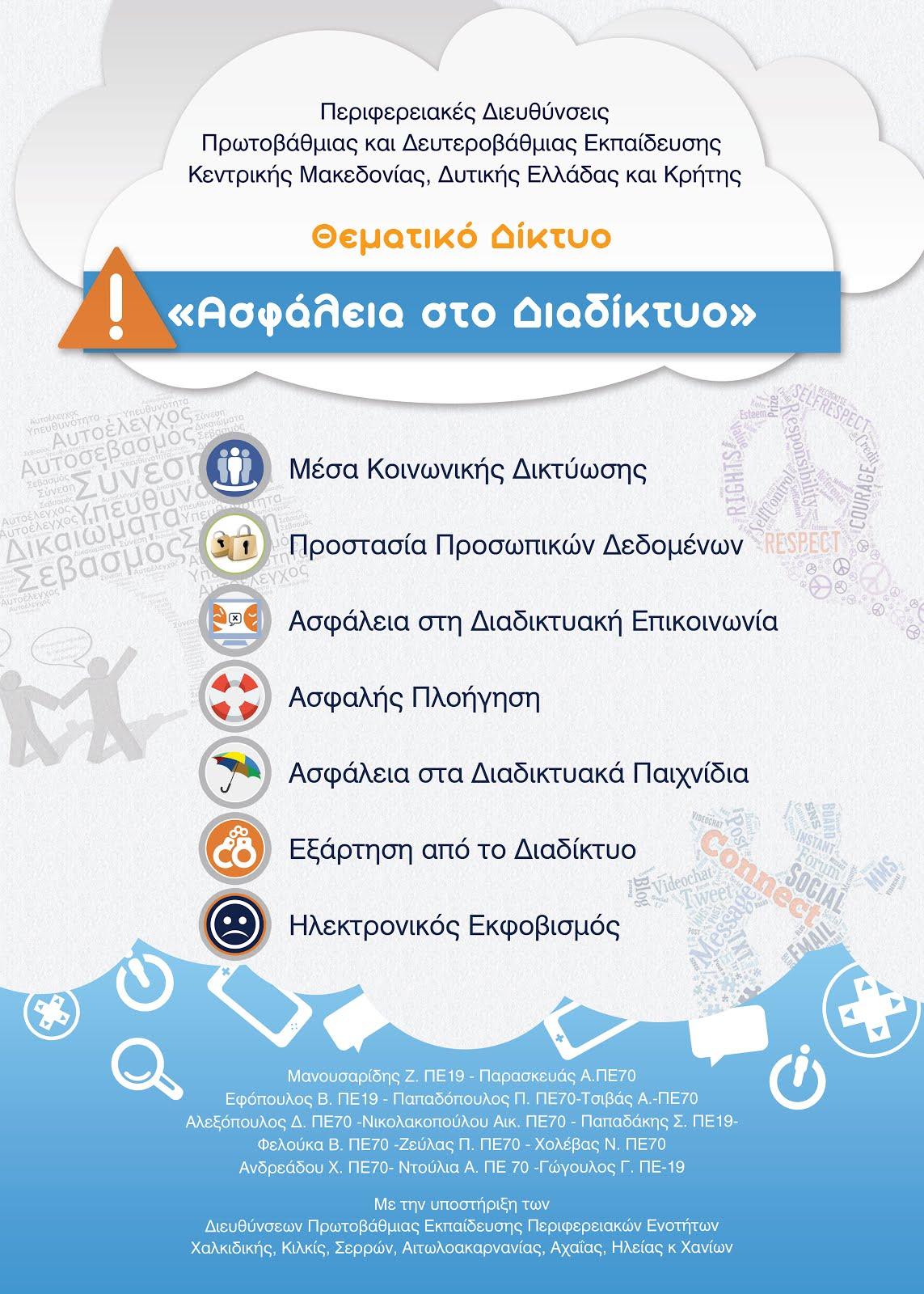 ΘΕΜΑΤΙΚΟ ΔΙΚΤΥΟ- ΑΣΦΑΛΕΙΑ ΣΤΟ ΔΙΑΔΙΚΤΥΟ