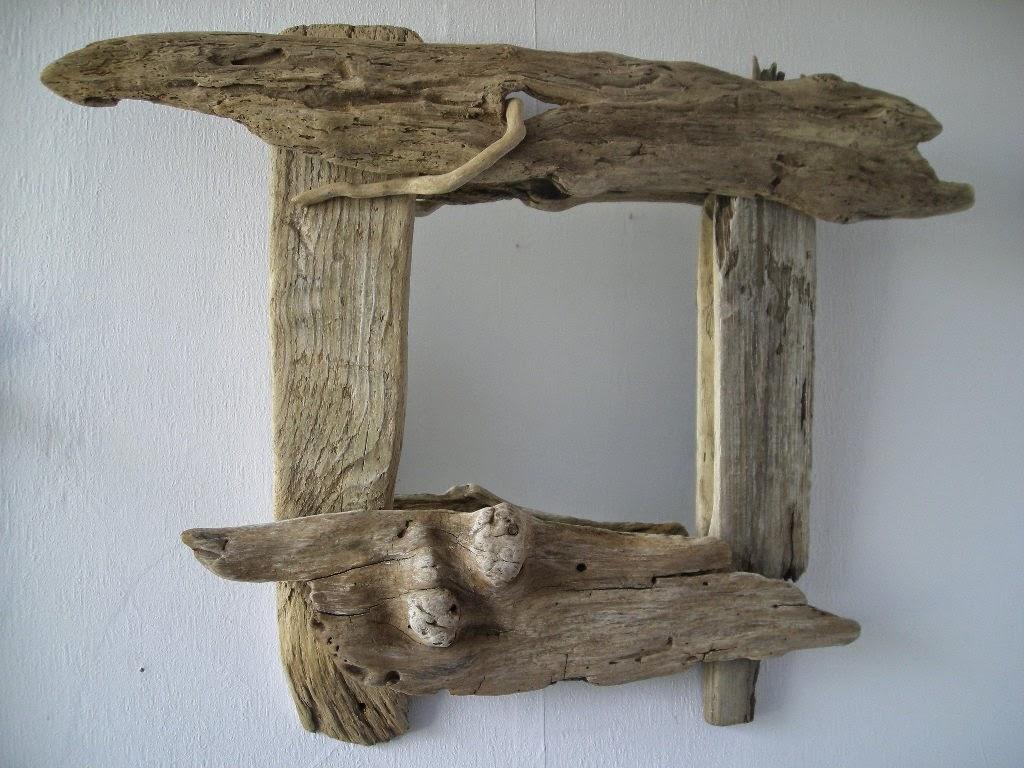Espejos con madera a la deriva decoracion - Espejos cuadrados grandes ...