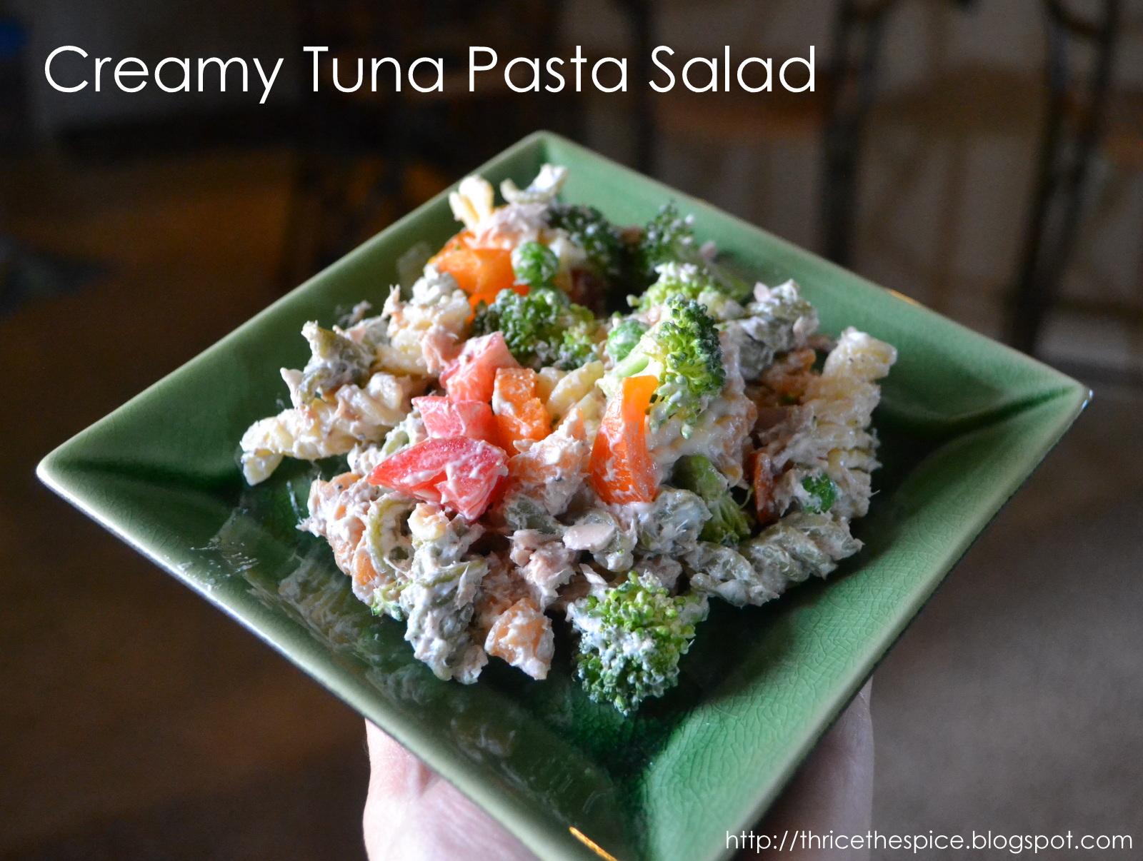 ThriceTheSpice: Creamy Tuna Pasta Salad