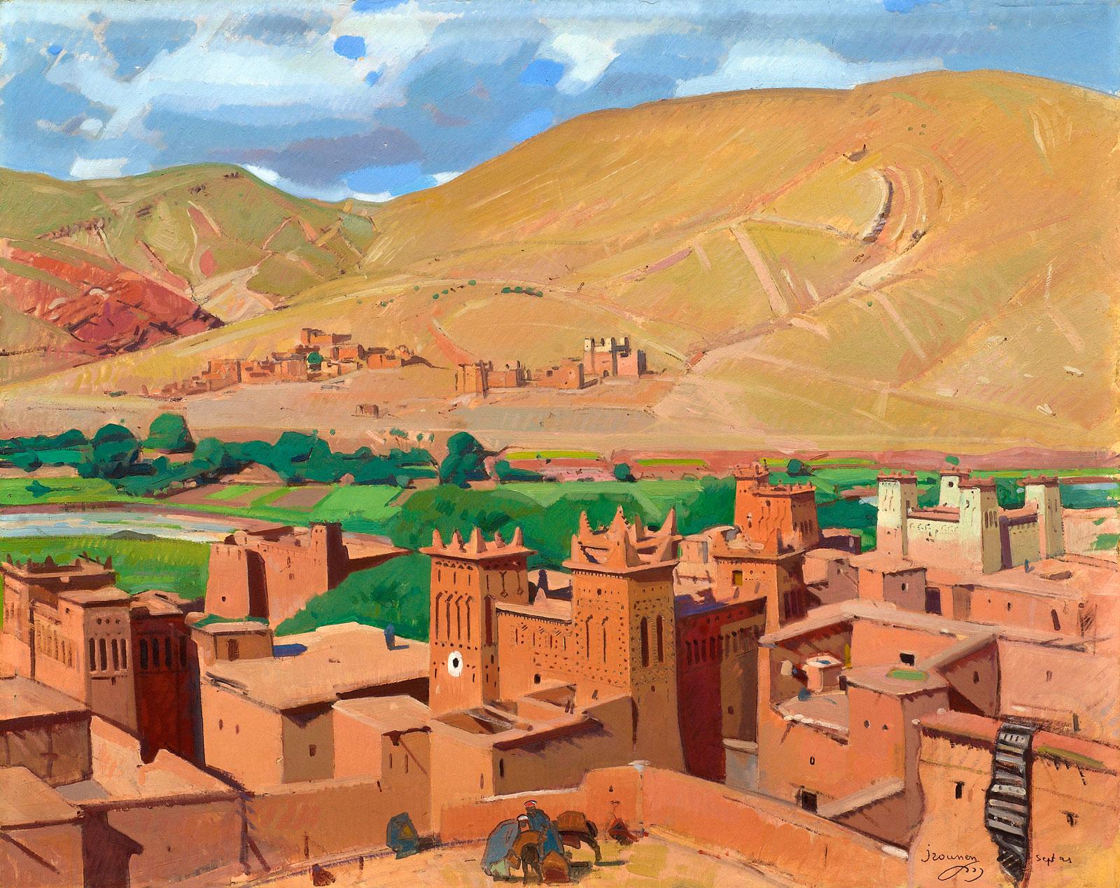 Th au jasmin tableaux orientalistes jacques majorelle et ses contemporains - Peintre majorelle oeuvres ...