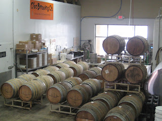 Lambic barrels at O'so Brewing