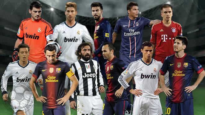 Equipo Ideal de UEFA 2012