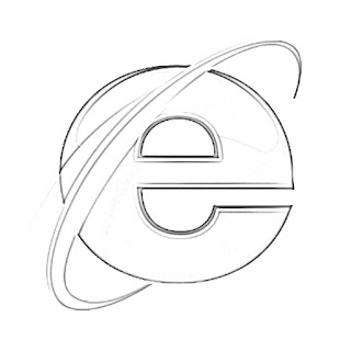 Internet Explorer Logo Sketch