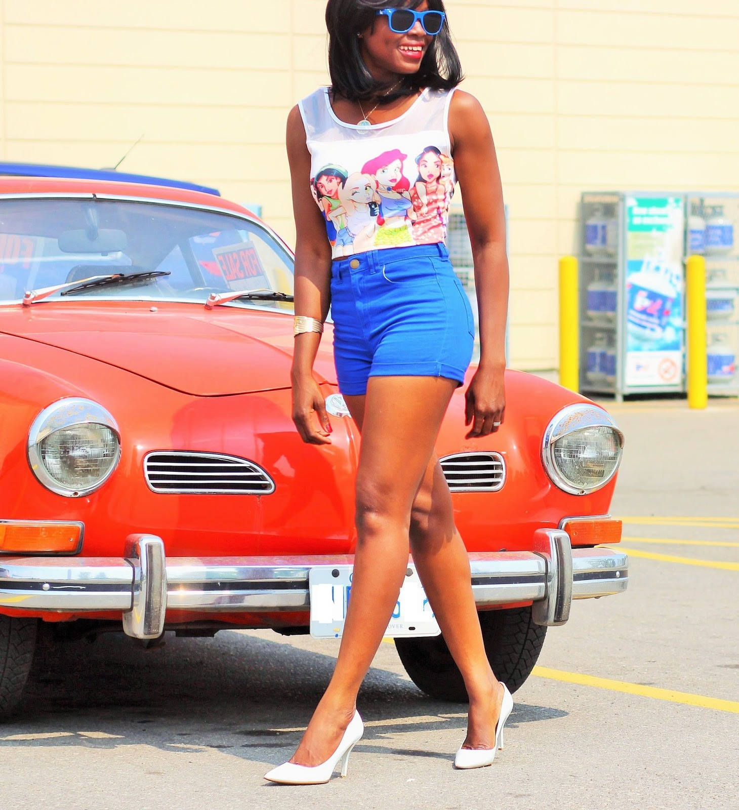 Crop Top with Highwaisted Shorts