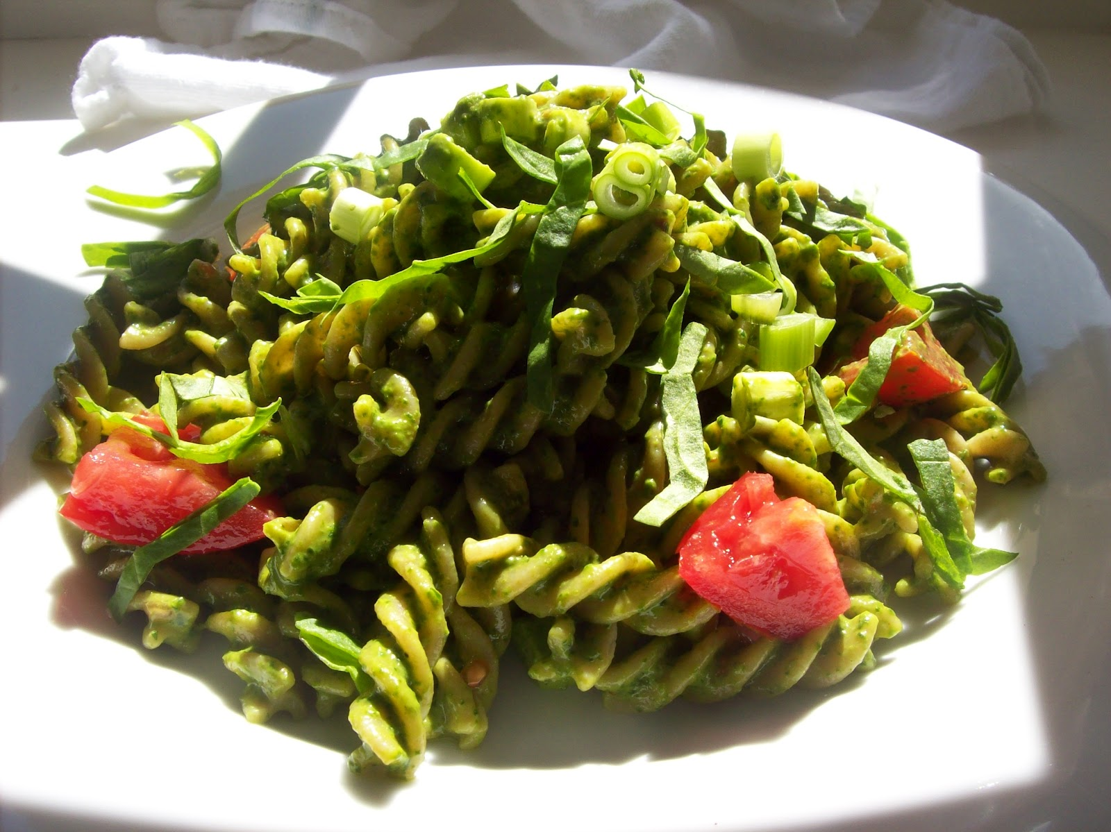 ... 1885™: whole wheat pasta with spicy spinach & peanut butter pesto