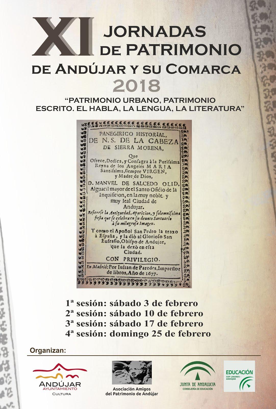 Jornadas de patrimonio de Andújar y su comarca