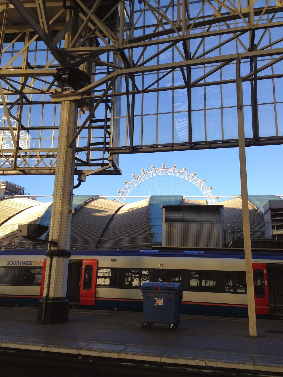 London Eye from Waterloo station, London