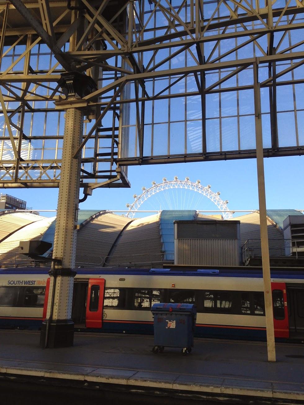 London Eye from Waterloo station, London