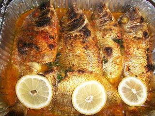 سمك مشوي بالفرن