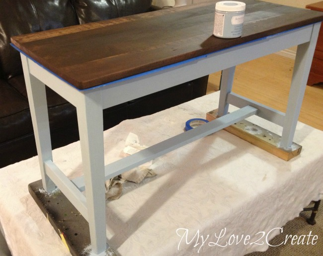 Using chalk paint for bottom of bench