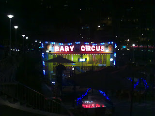 Kids area in Monte Carlo, at night time
