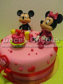 bolo aniversário minnie e mickey