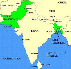 1971 yılına kadar bangladeş pakistanın parçasıydı