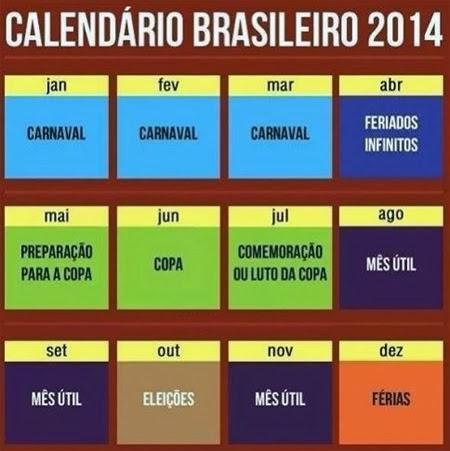 Calendário Nacional 2014