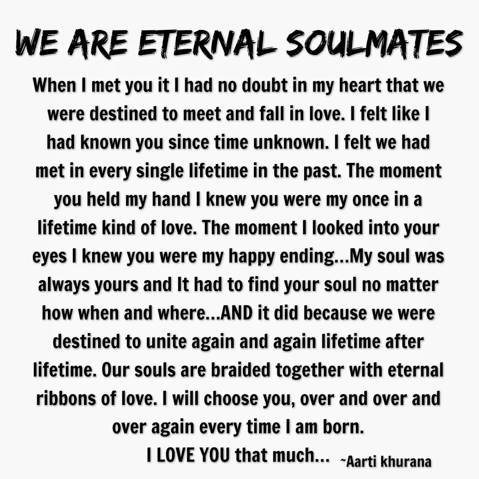 Love Is Eternal Quotes Eternal Soul Mate Quote  Inspiring Quotes And Words In Life