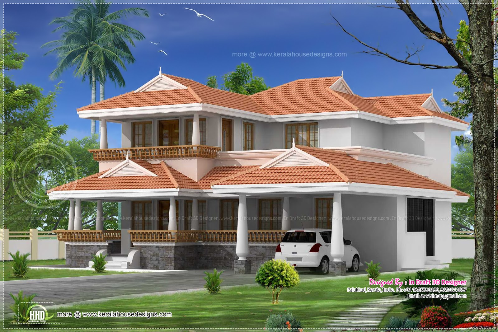 4 bed room kerala traditional villa 2615 sq ft home for Villa plans in kerala