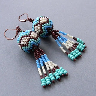 купить серьги из бисера украшения ручной работы anabel украина