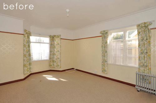 Phòng khách căn hộ nhỏ trước khi thay đổi