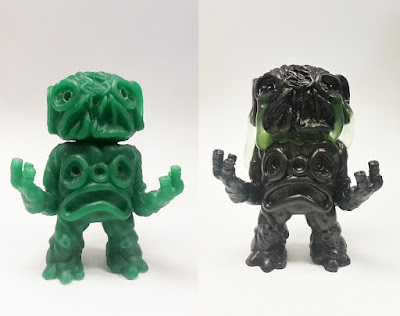Black and Green Edition Beautiful Oozers Resin Figure by Motorbot