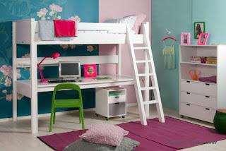Tips voor een kleine kinderkamer deel 2 - Hoogslaper tiener met kantoor en opslag ...