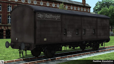 Fastline Simulation: This example of a maroon liveried VCA has seen considerable traffic and is decidedly faded and patchy.