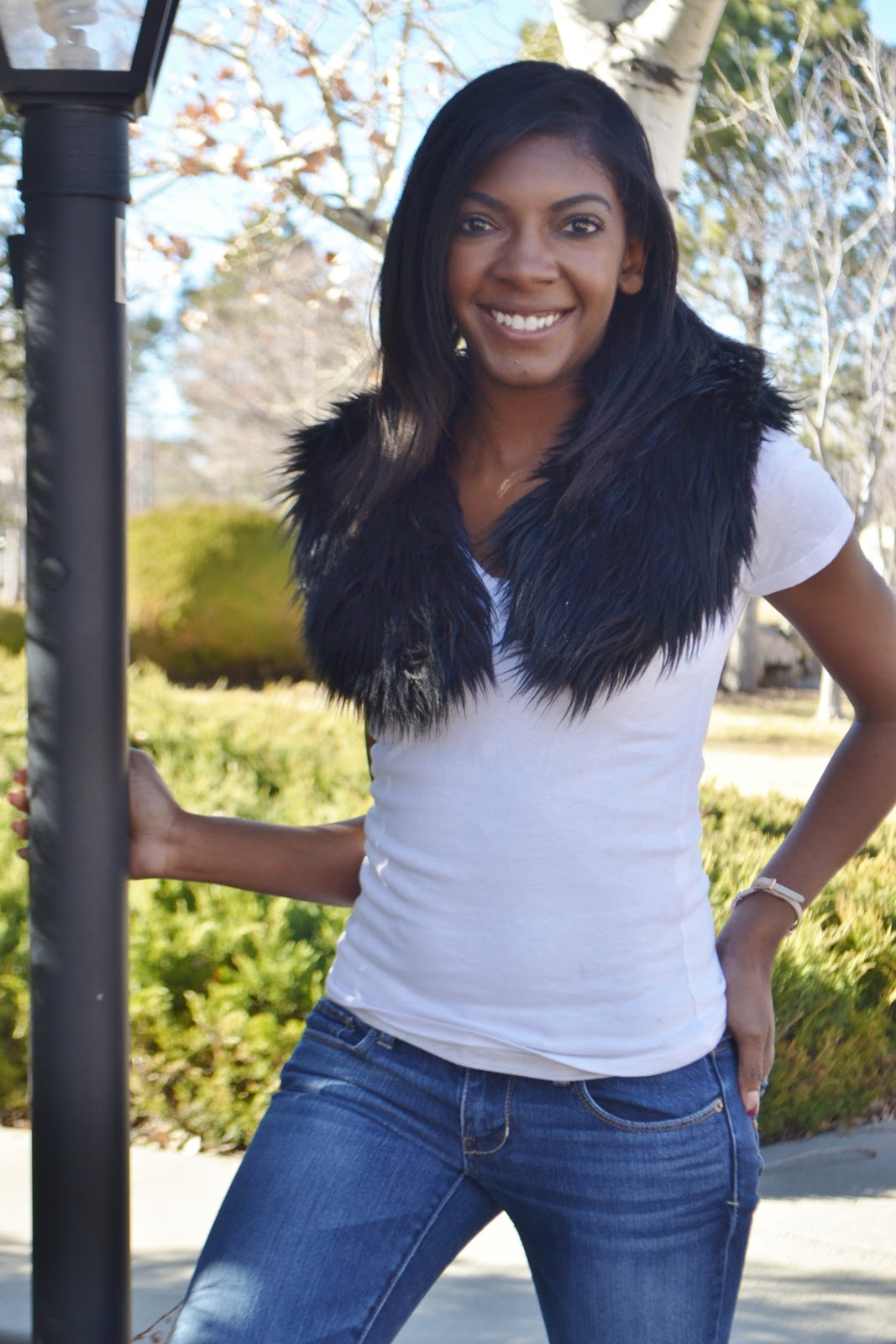fur collar scarf winter