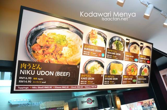 Some of the dishes available at Kodawari Menya