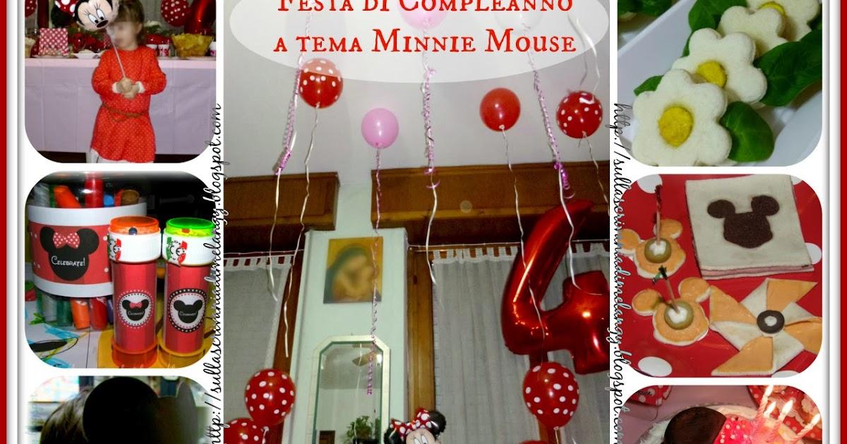 Compleanno bambini festa a tema minnie mouse sulla