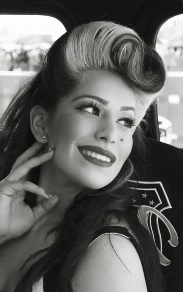 rockabilly pompadour female