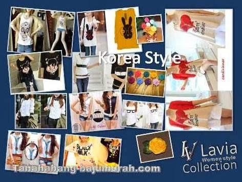 Grosir Blouse Kaos Model Korea Modern Terbaru